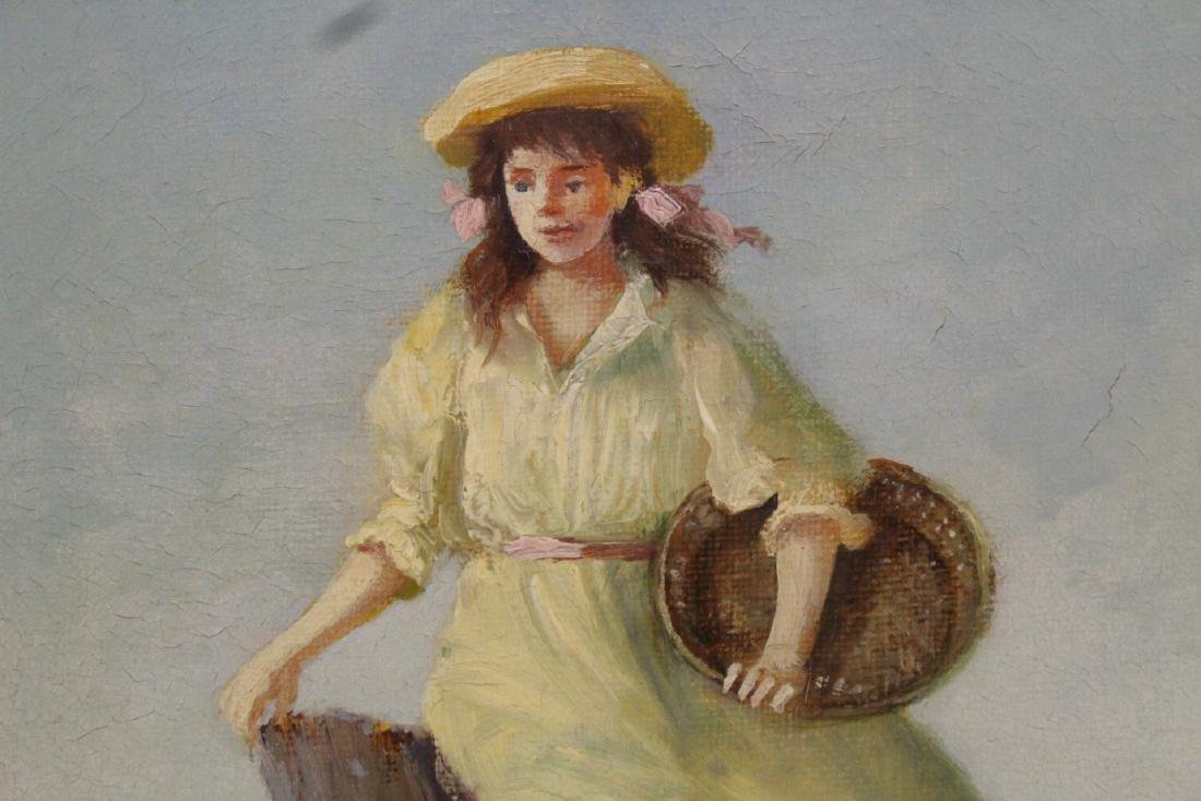 Scandinavian oil on canvas painting - 5