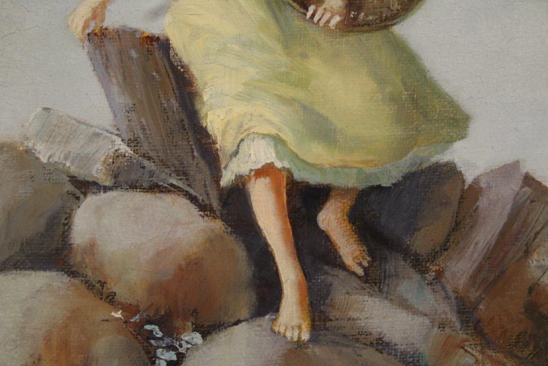 Scandinavian oil on canvas painting - 6