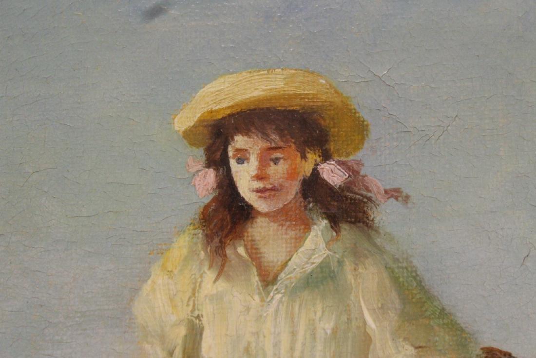 Scandinavian oil on canvas painting - 9