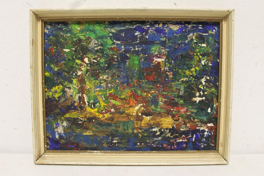 Oil on board by American artist Roberta Kessler