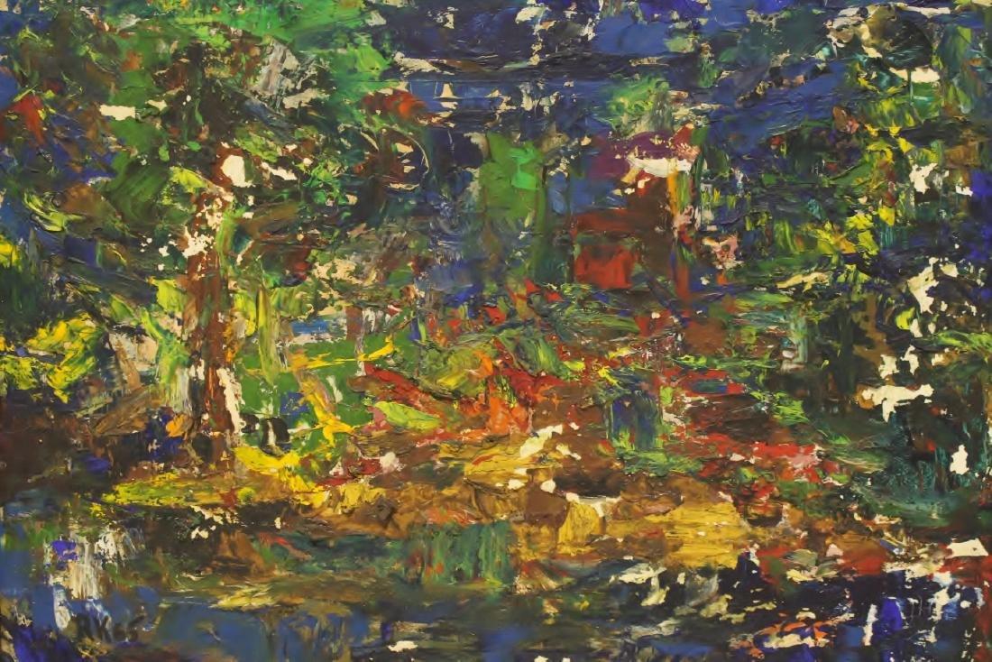 Oil on board by American artist Roberta Kessler - 2