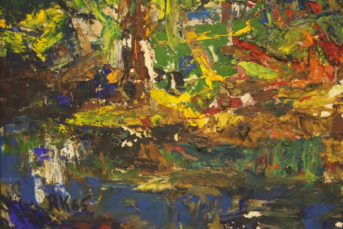 Oil on board by American artist Roberta Kessler - 3