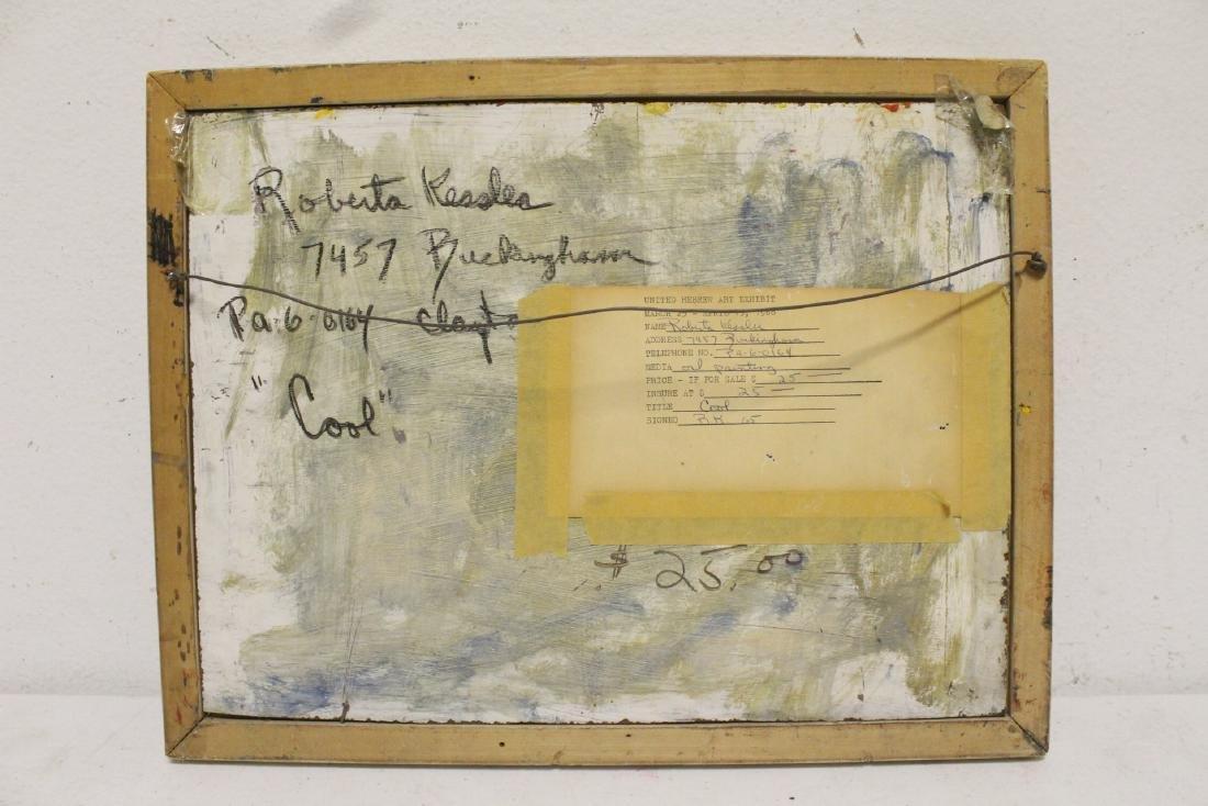 Oil on board by American artist Roberta Kessler - 9