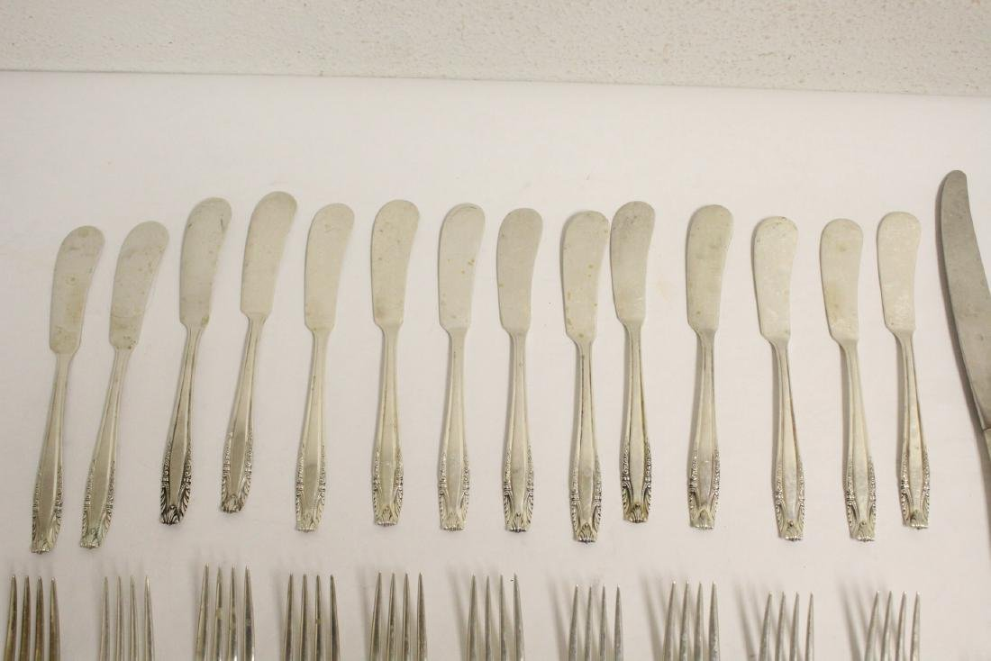 Partial serving for 12 Wallace sterling dinner set - 3