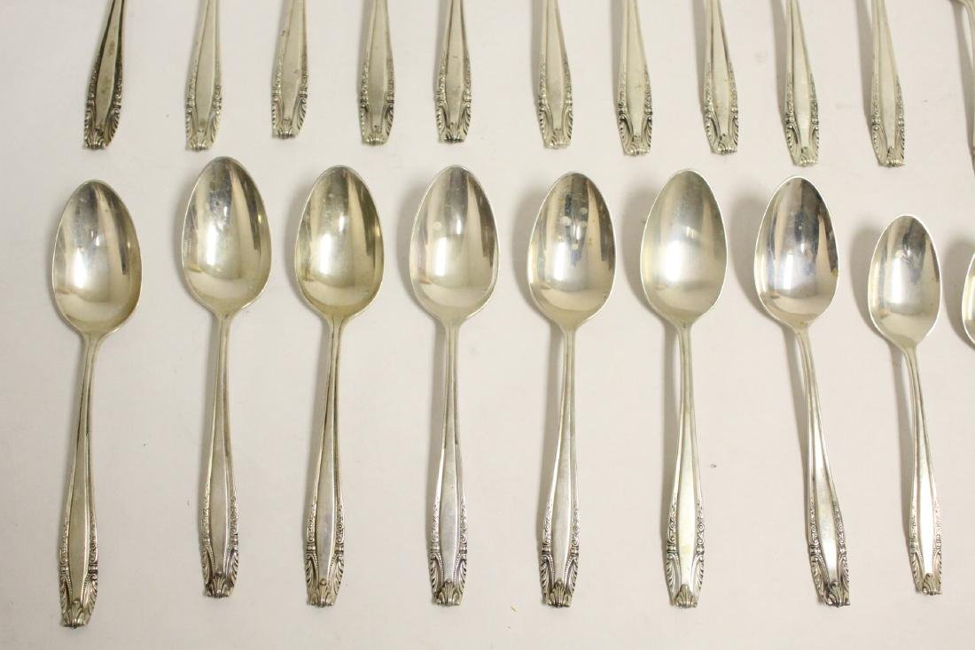 Partial serving for 12 Wallace sterling dinner set - 7
