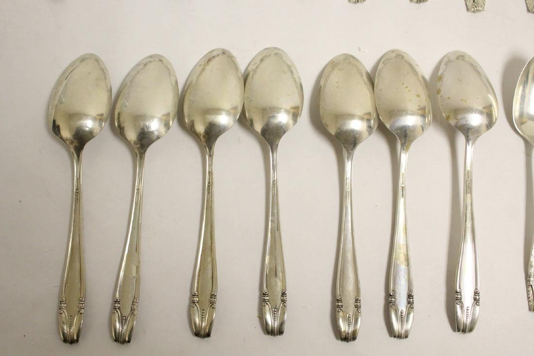 Partial serving for 12 Wallace sterling dinner set - 8