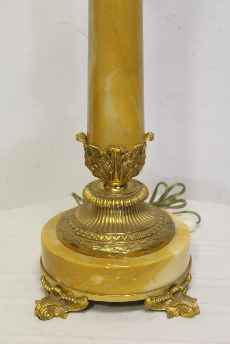 2 French onyx table lamps with bronze ormolu - 3