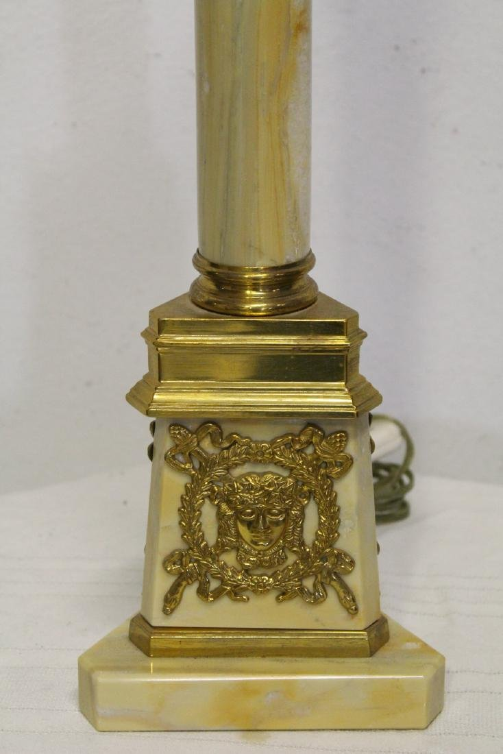 2 French onyx table lamps with bronze ormolu - 7