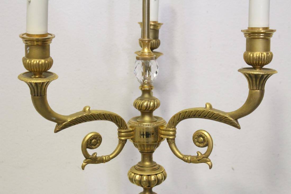 Gilt bronze floor lamp - 10