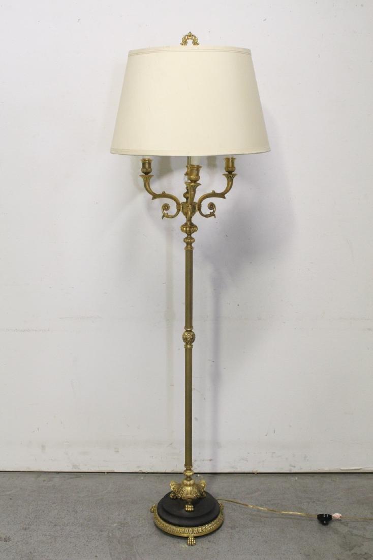 Gilt bronze floor lamp