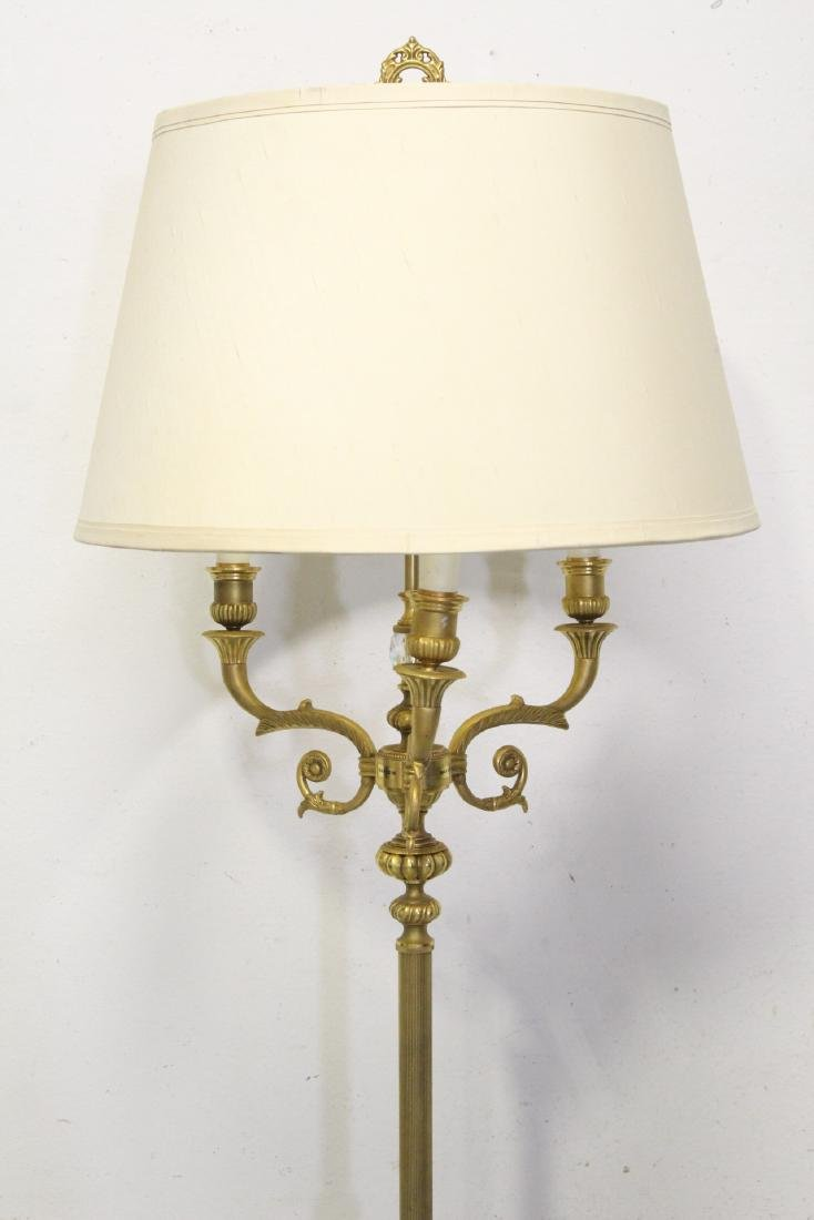 Gilt bronze floor lamp - 3