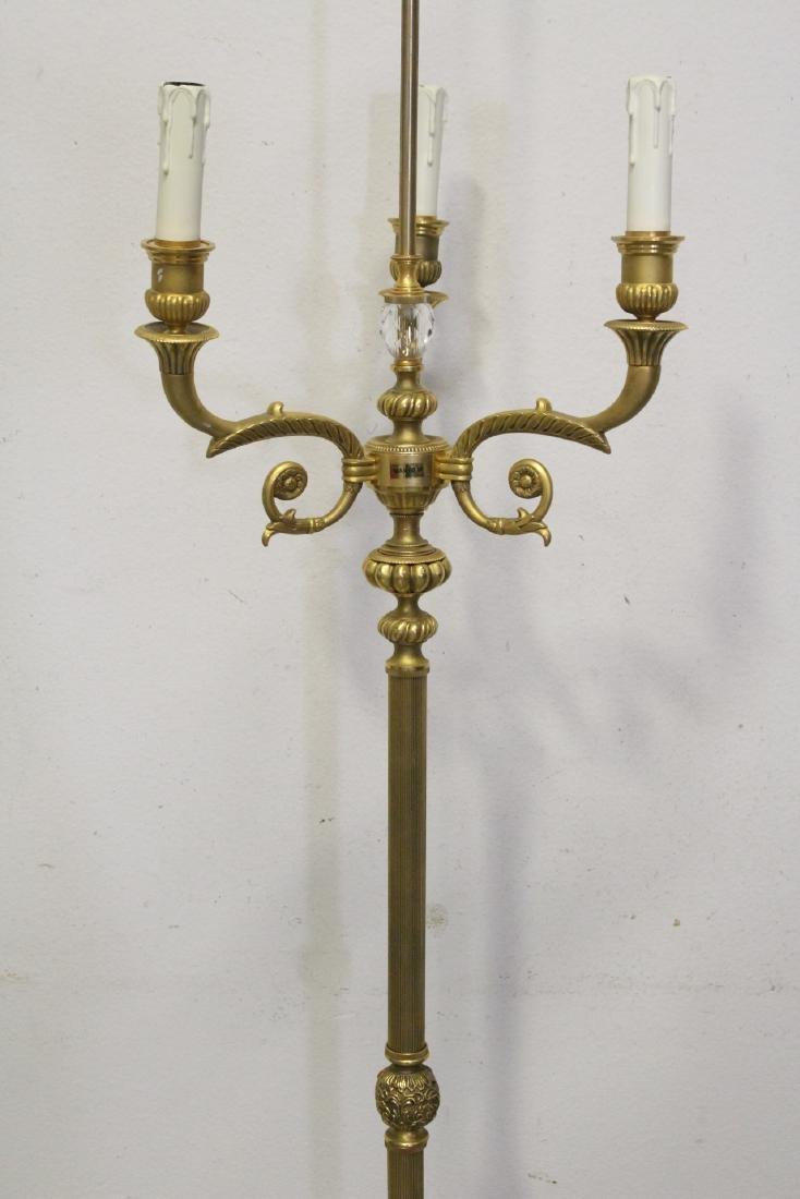 Gilt bronze floor lamp - 6