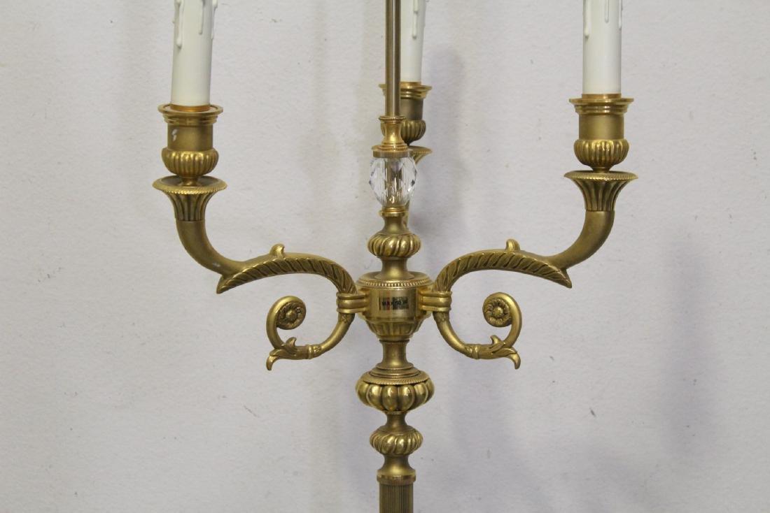 Gilt bronze floor lamp - 7
