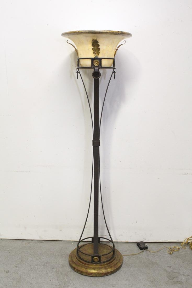 A fancy modern floor lamp