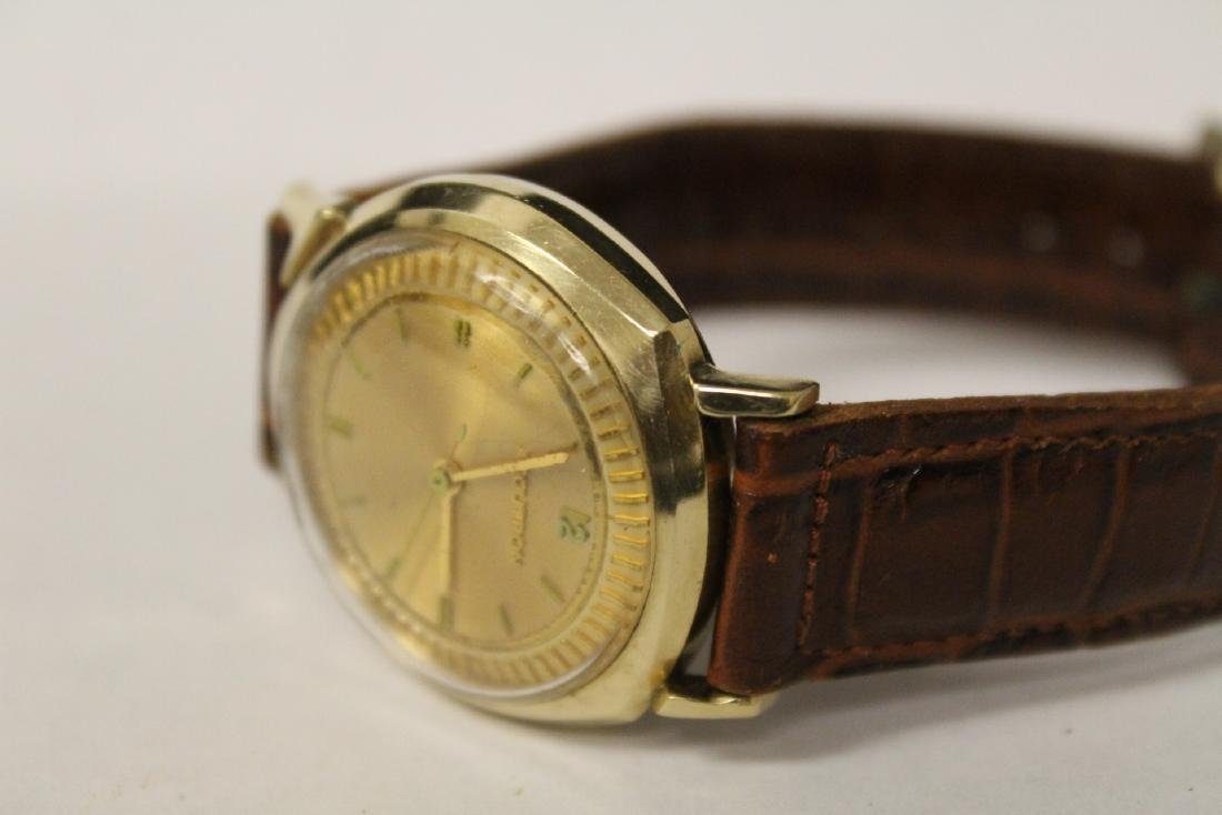 A 14K Y/G Bulova Accutron wrist watch - 10
