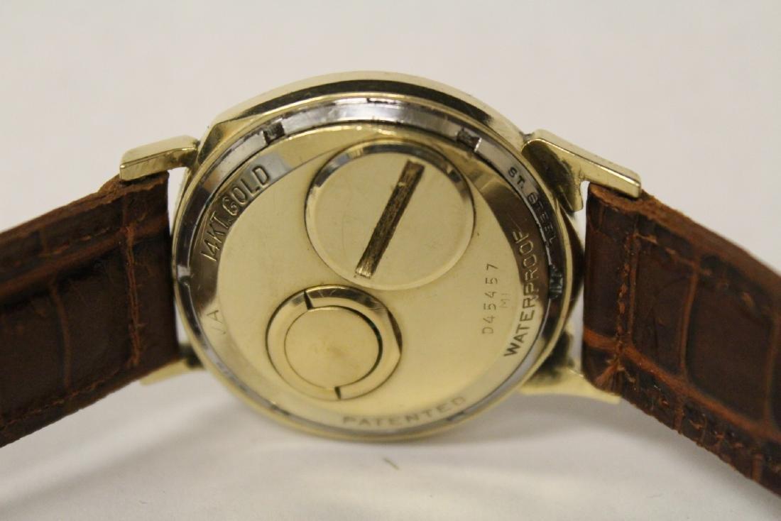 A 14K Y/G Bulova Accutron wrist watch - 4