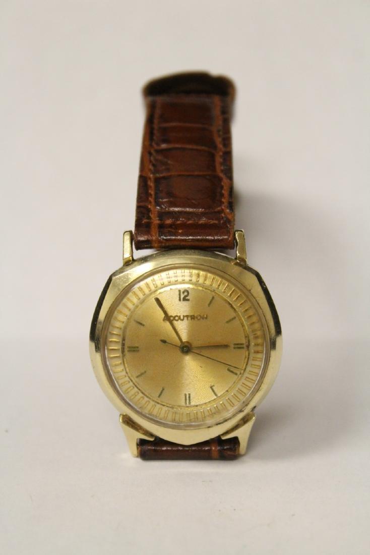 A 14K Y/G Bulova Accutron wrist watch - 5
