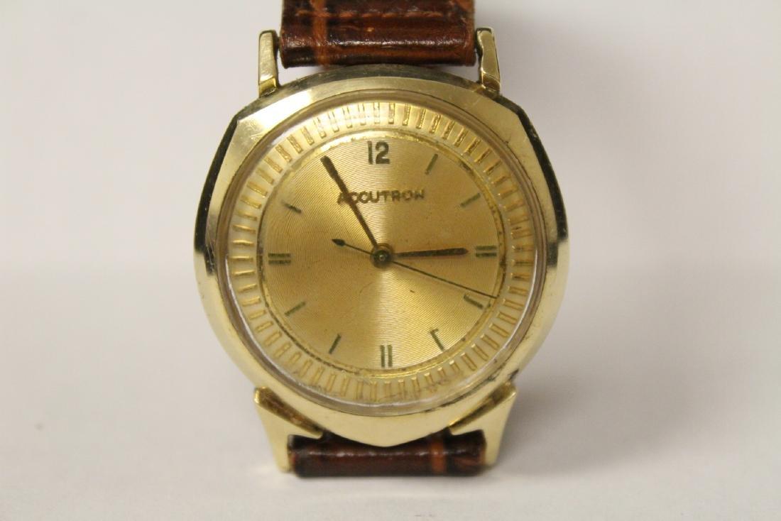 A 14K Y/G Bulova Accutron wrist watch - 6
