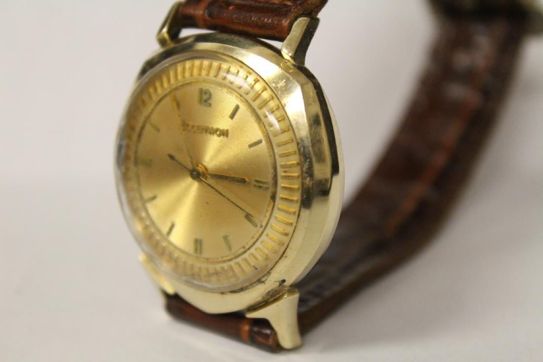 A 14K Y/G Bulova Accutron wrist watch - 7