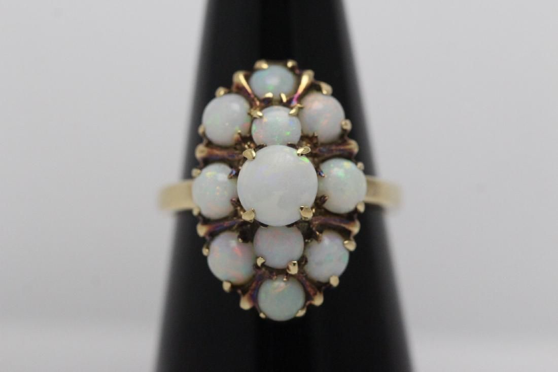 10 K Y/G opal ring