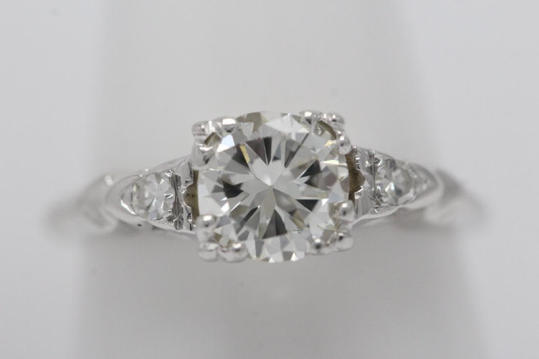 Art deco 14K W/G diamond ring with GIA certificate - 10