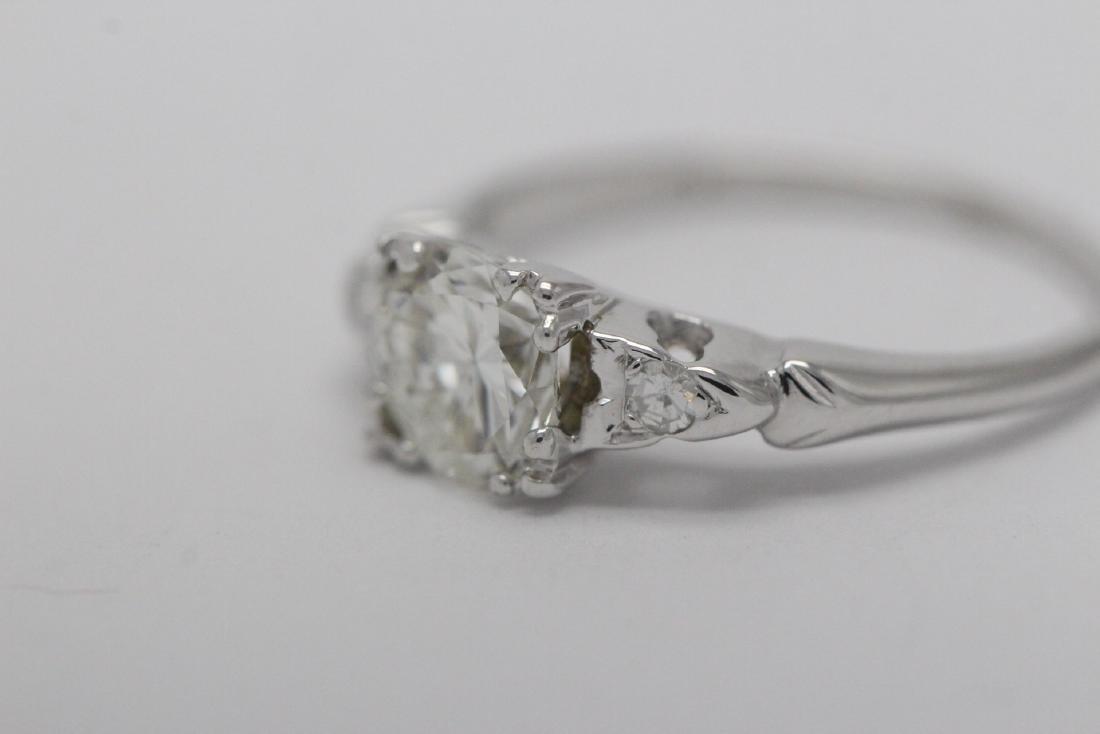 Art deco 14K W/G diamond ring with GIA certificate - 6