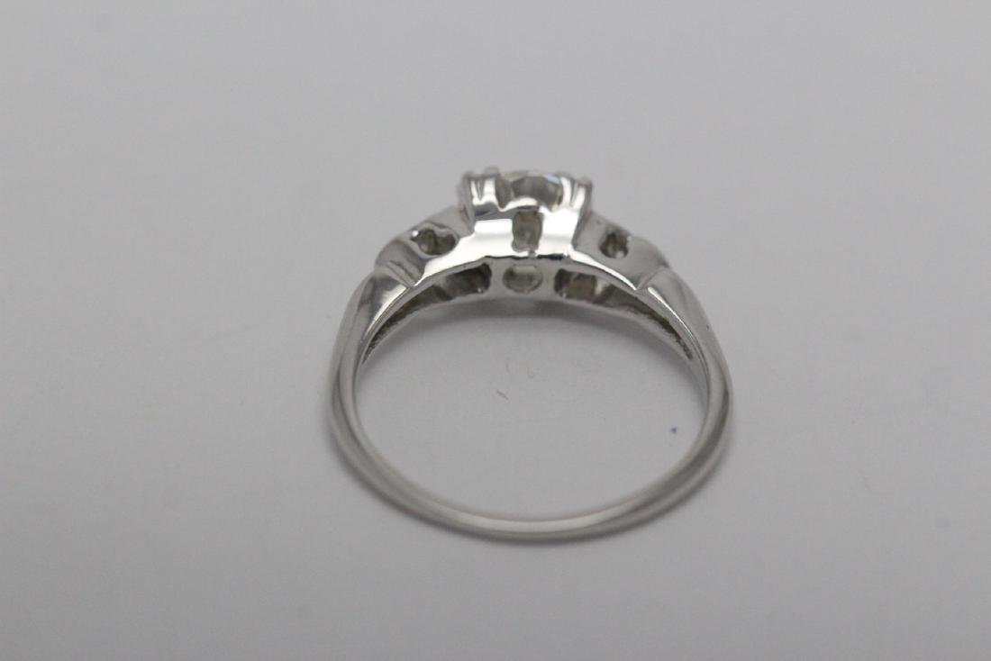 Art deco 14K W/G diamond ring with GIA certificate - 8