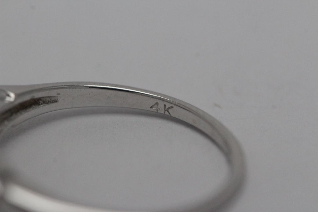 Art deco 14K W/G diamond ring with GIA certificate - 9