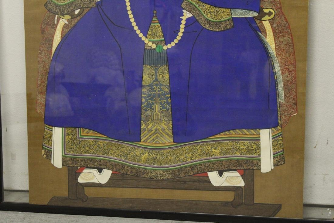 Chinese 19th century watercolor on silk panel - 3