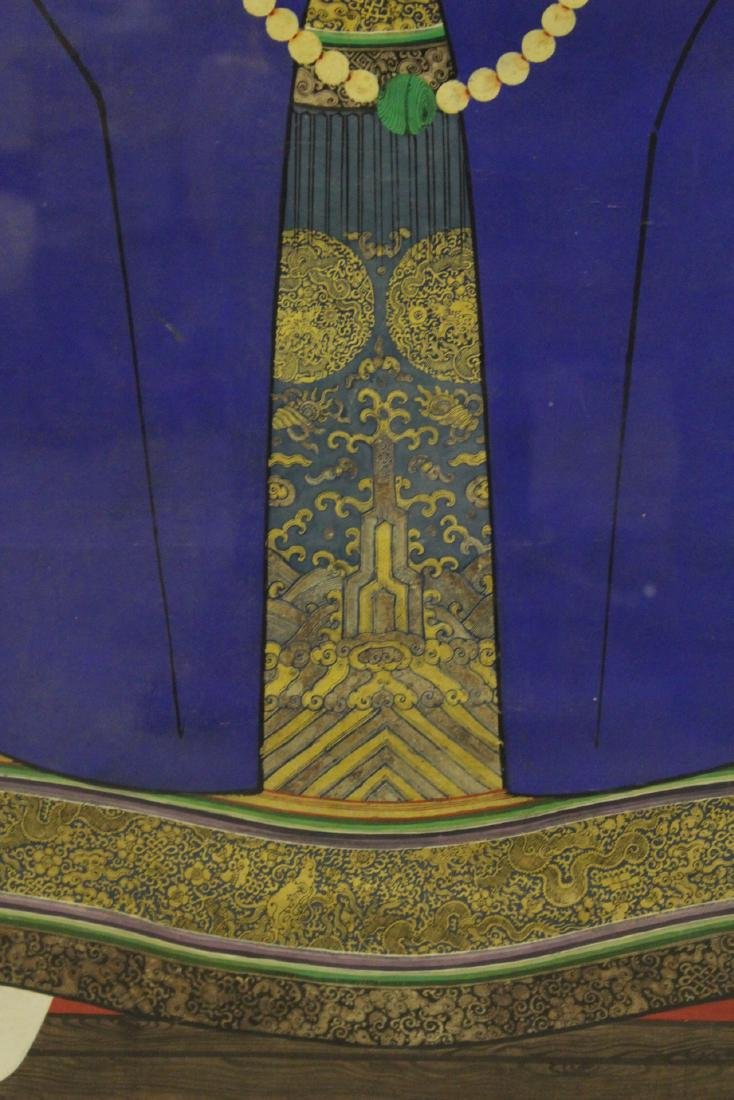 Chinese 19th century watercolor on silk panel - 4
