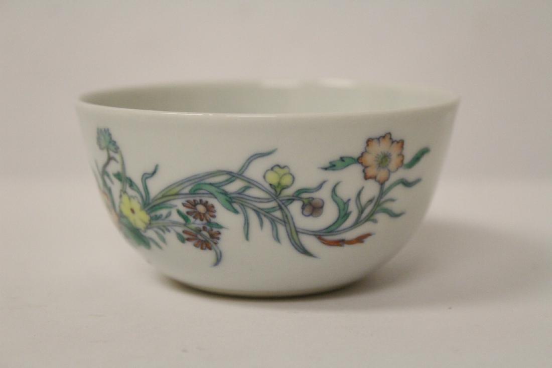 Pair Chinese famille rose porcelain tea bowls - 9