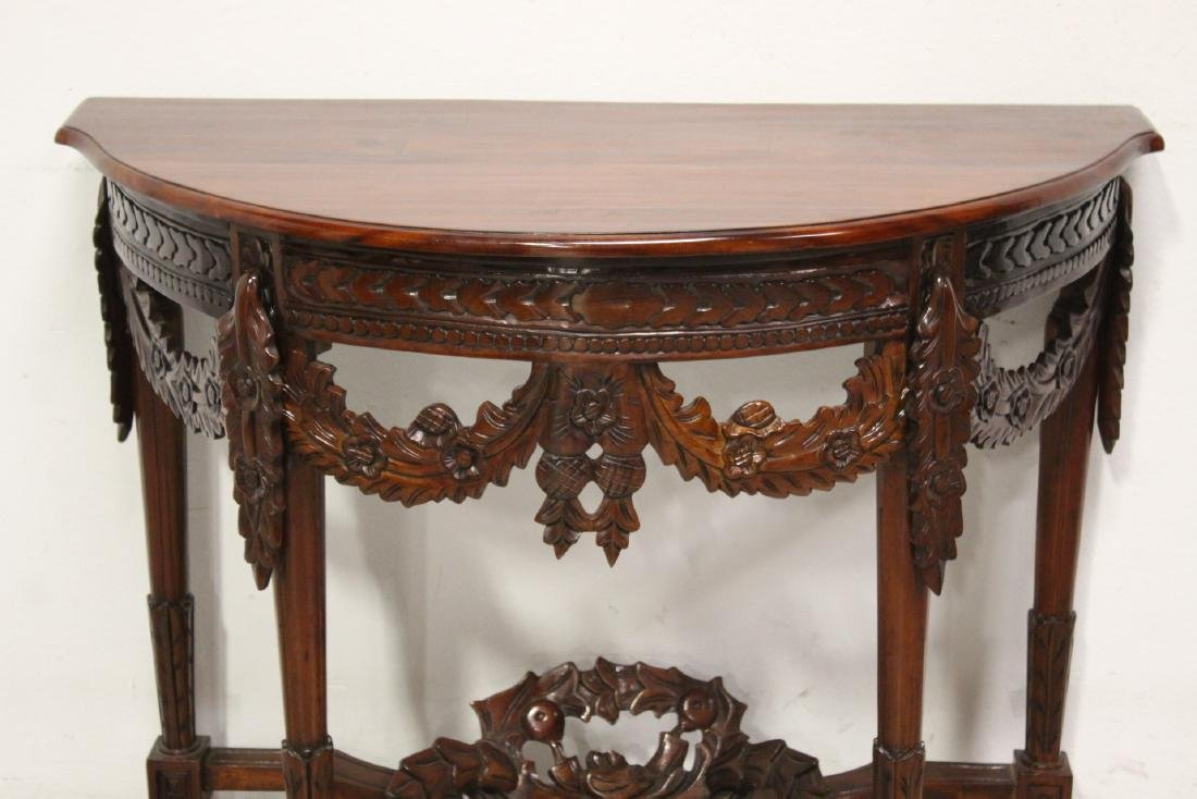 A finely carved Chinese rosewood console table - 3