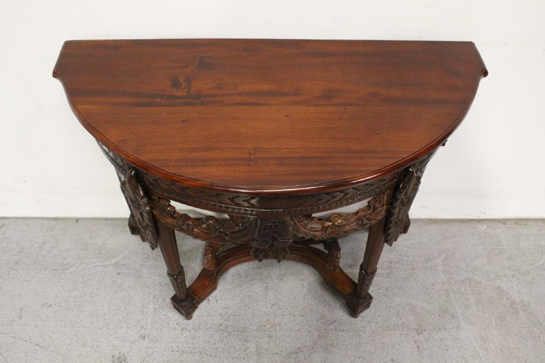 A finely carved Chinese rosewood console table - 4