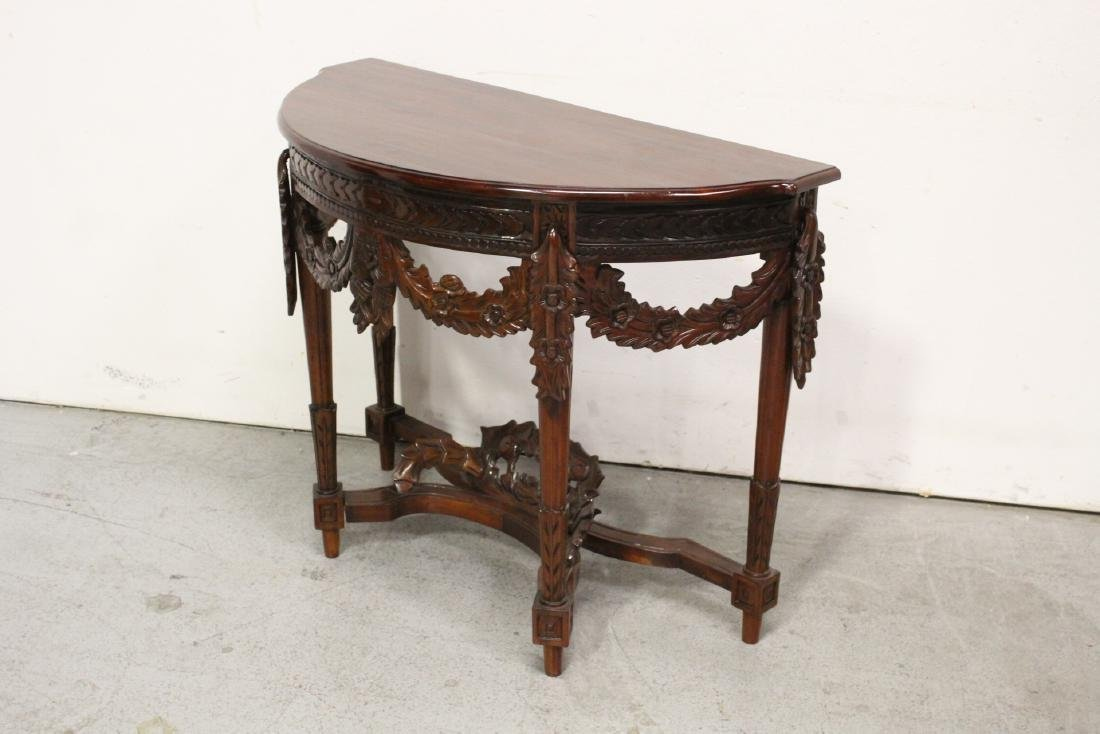 A finely carved Chinese rosewood console table - 5