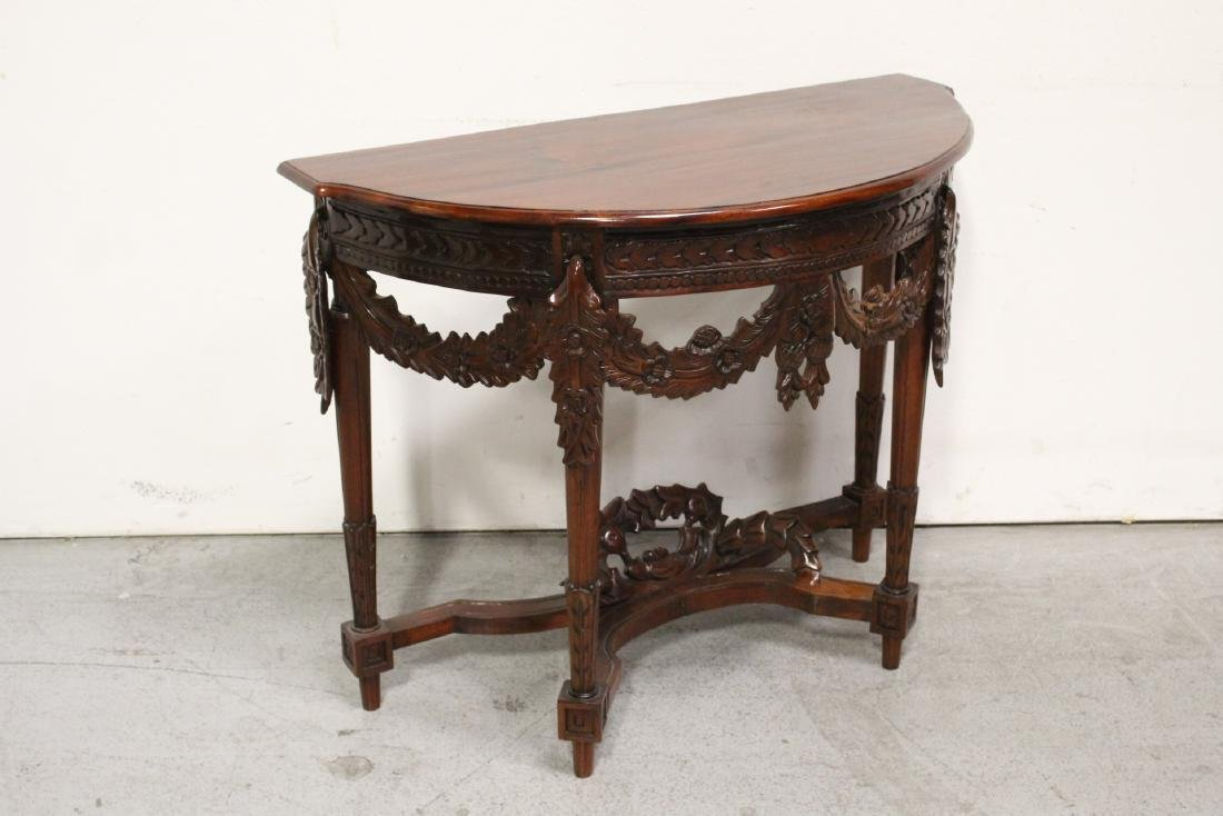 A finely carved Chinese rosewood console table - 6