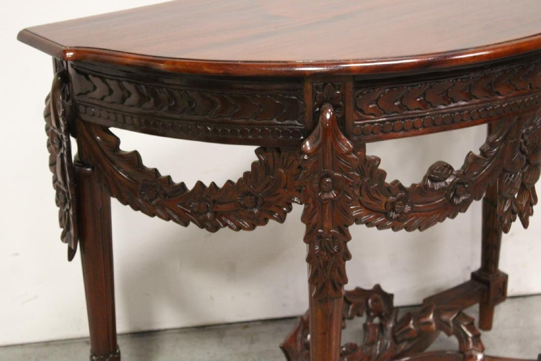 A finely carved Chinese rosewood console table - 7