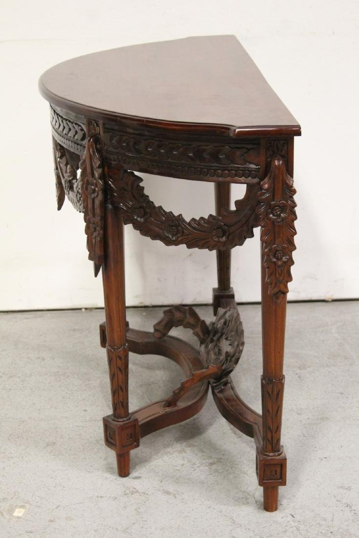A finely carved Chinese rosewood console table - 8