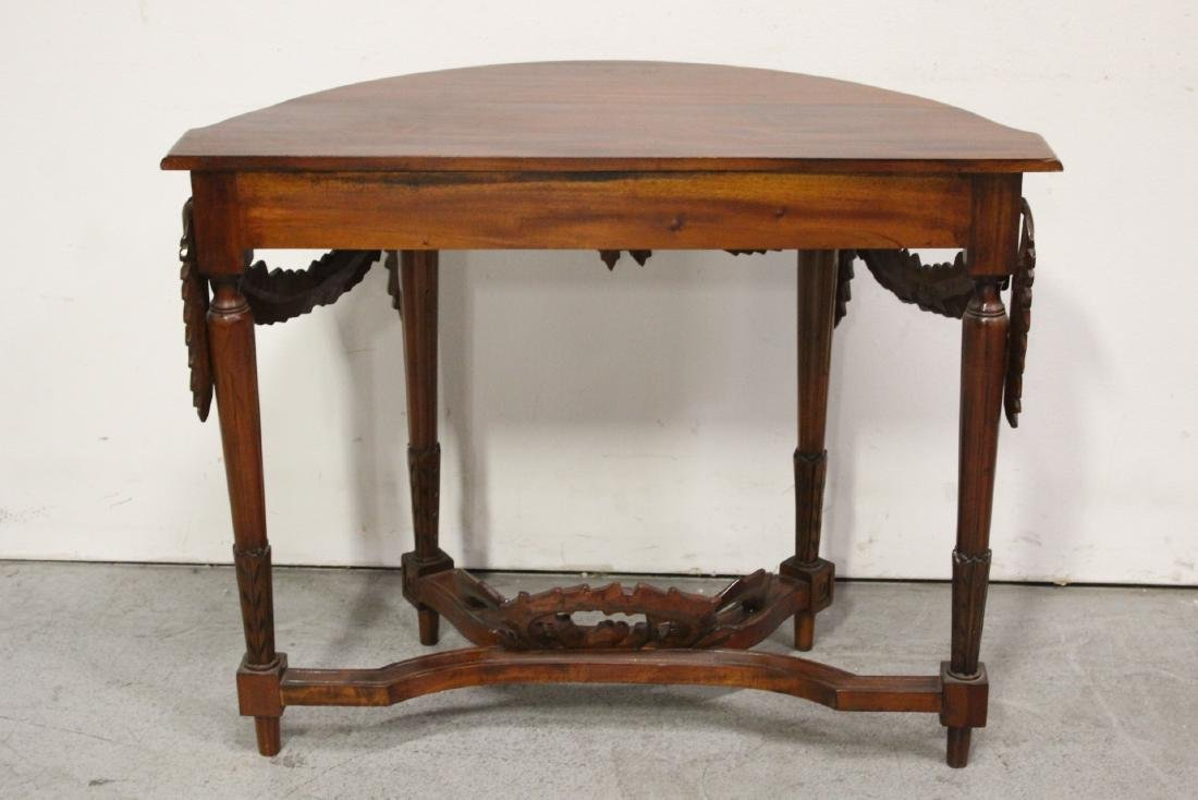 A finely carved Chinese rosewood console table - 9