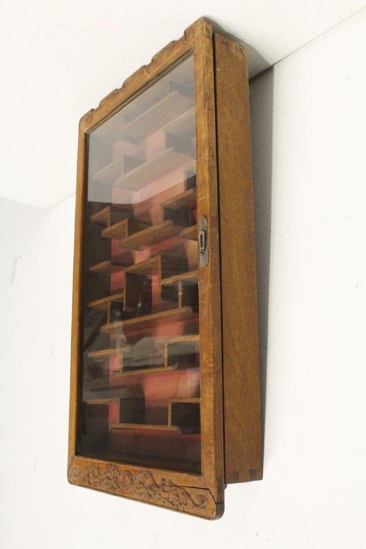 19th/20th c. wall hanging display case - 10