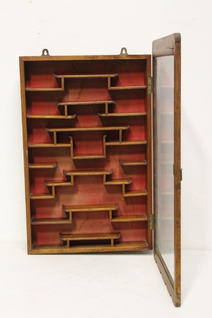 19th/20th c. wall hanging display case - 2