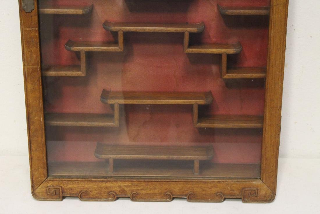 19th/20th c. wall hanging display case - 6