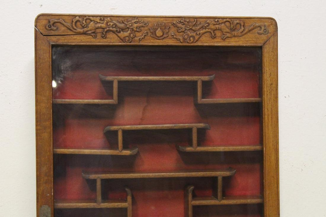 19th/20th c. wall hanging display case - 7