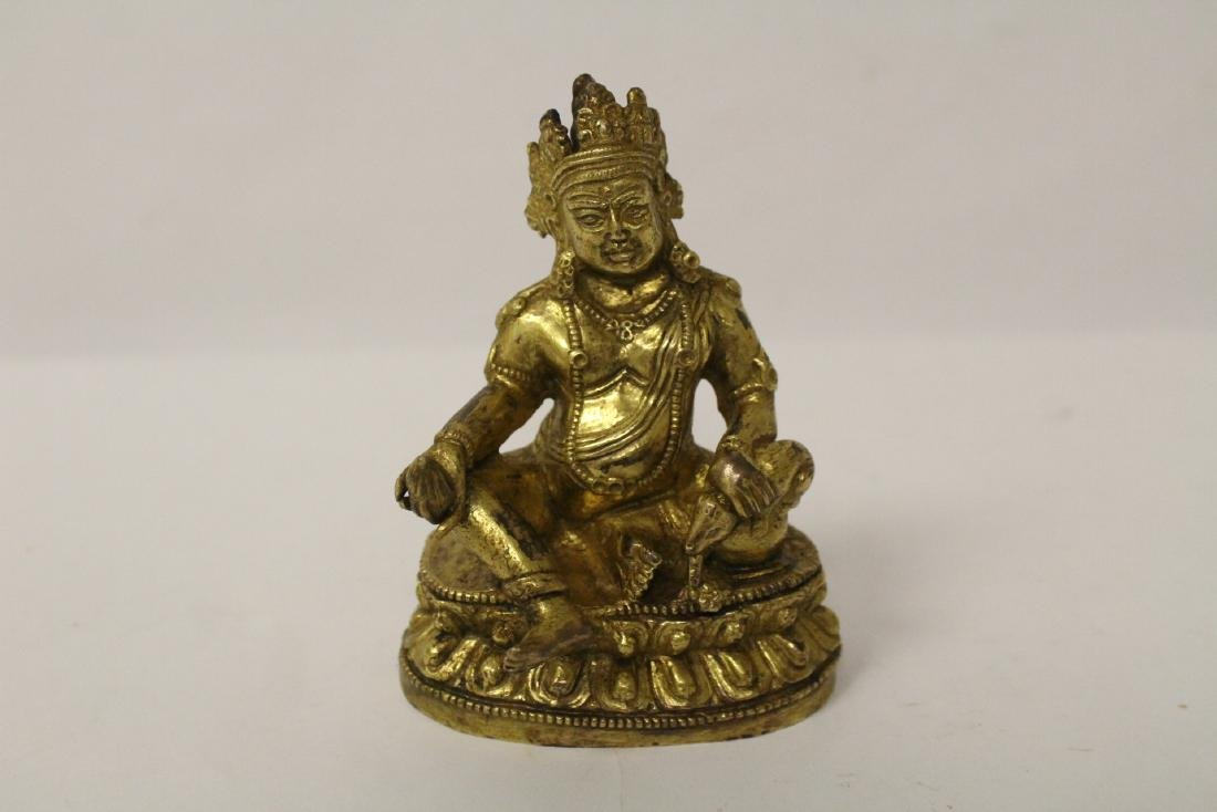 Chinese small vintage gilt bronze Buddha