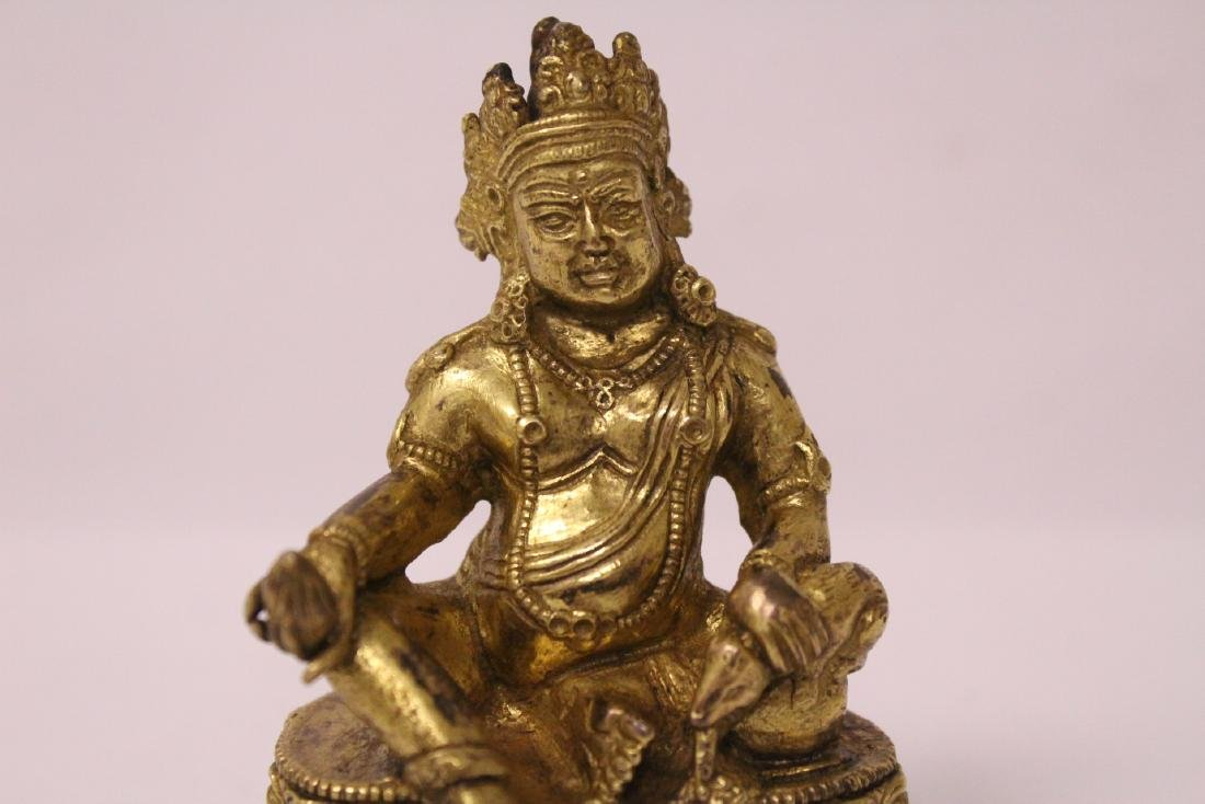 Chinese small vintage gilt bronze Buddha - 3