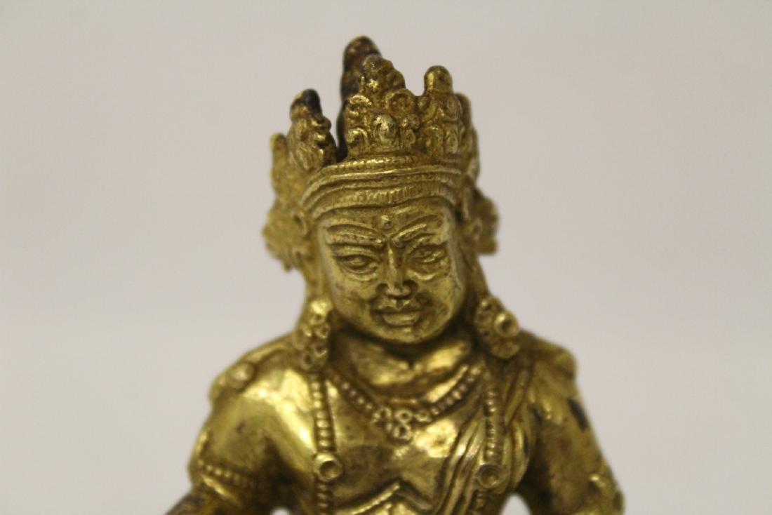 Chinese small vintage gilt bronze Buddha - 4