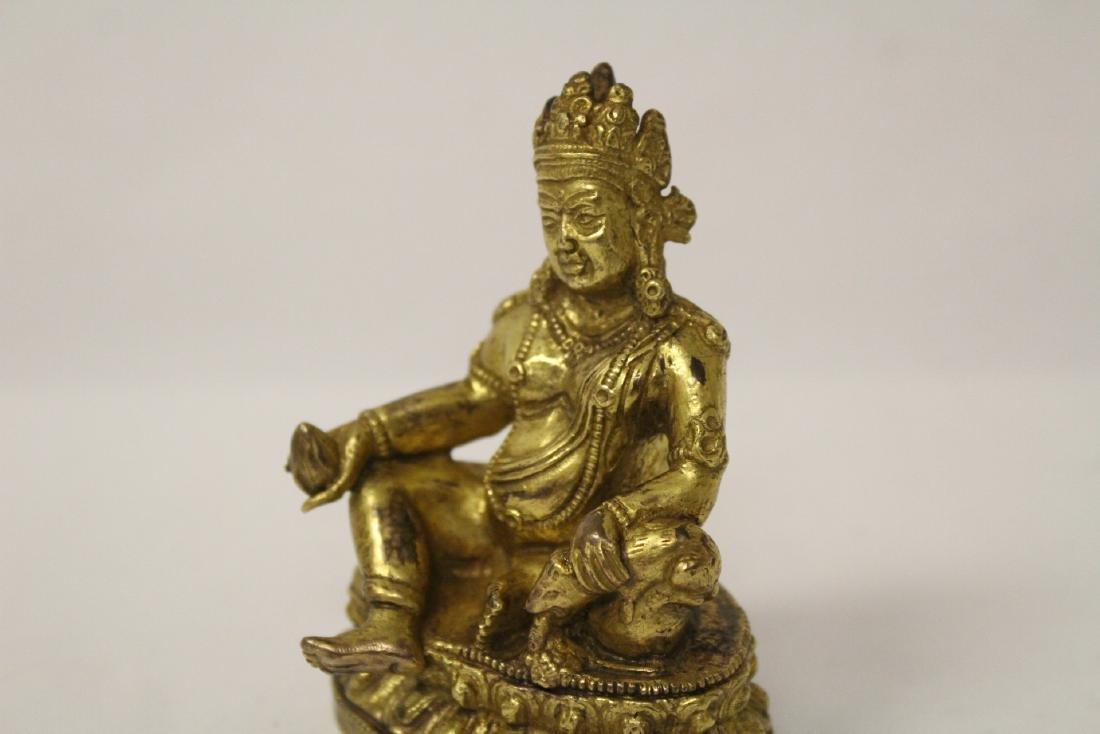 Chinese small vintage gilt bronze Buddha - 9