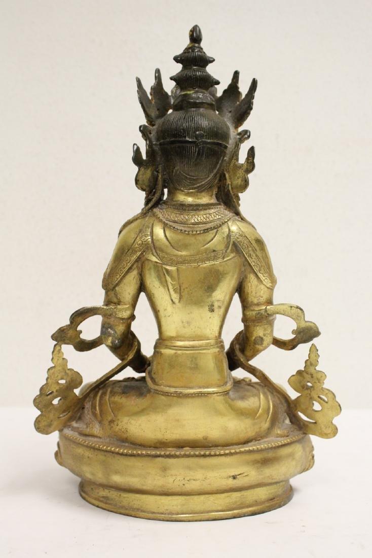 Chinese gilt bronze sculpture - 3