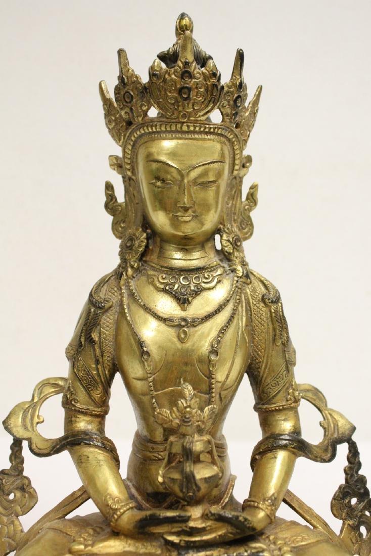 Chinese gilt bronze sculpture - 6