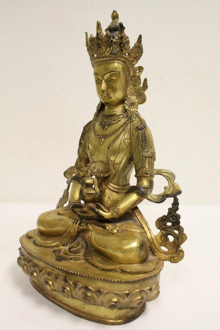 Chinese gilt bronze sculpture - 8