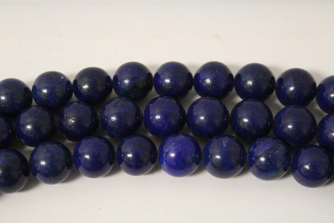Chinese lapis bead necklace - 6